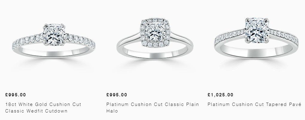 Shop cushion cut engagement rings by Steven Stone