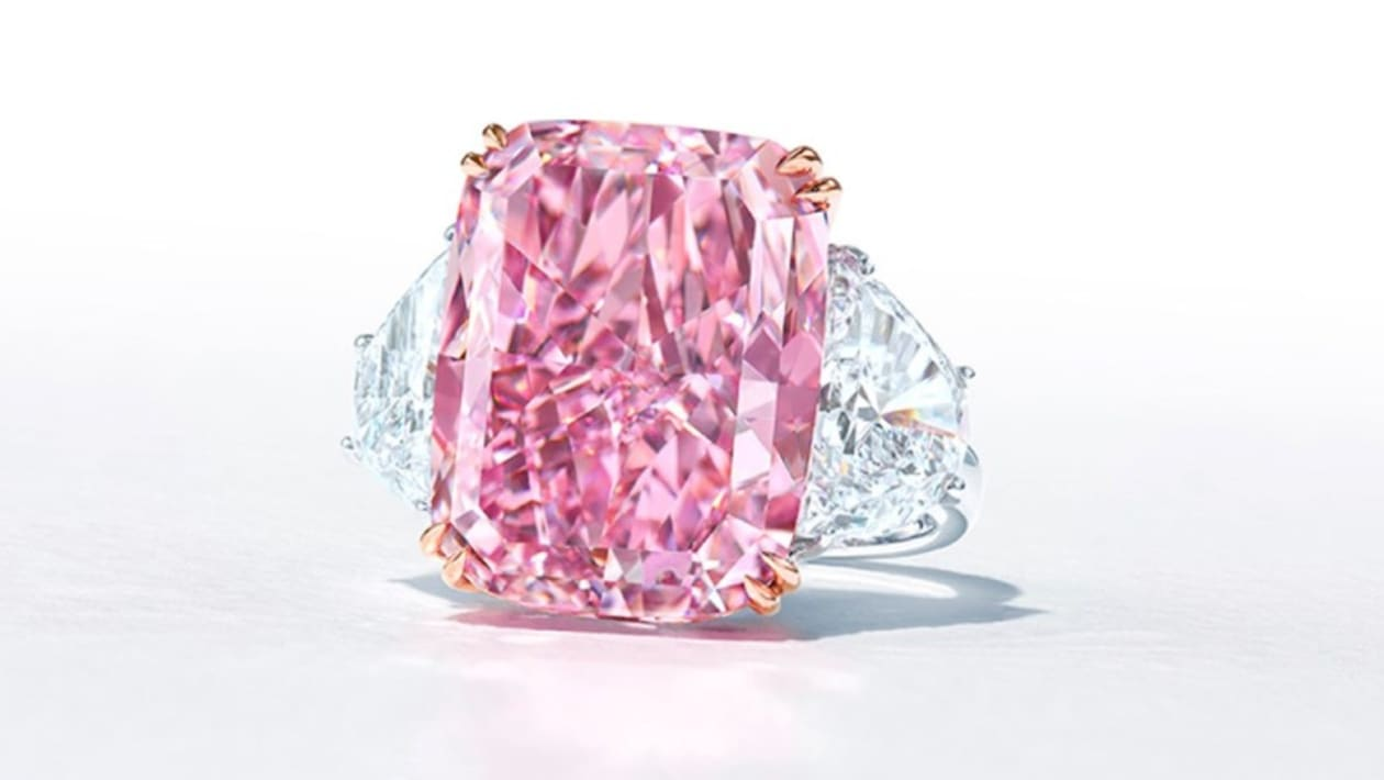 The most expensive pink diamond sold at Sotheby's auction