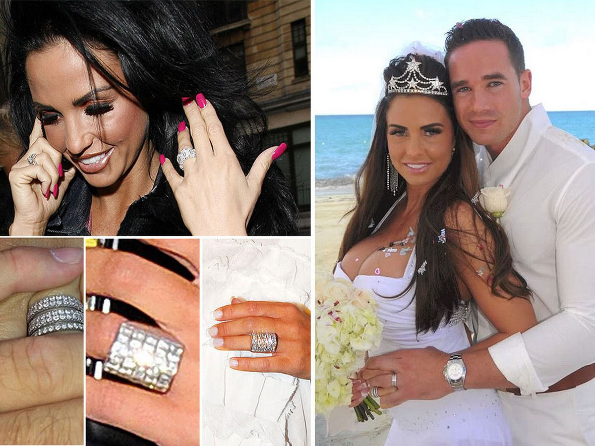 A close look at Katie Price's HUGE engagement ring collection