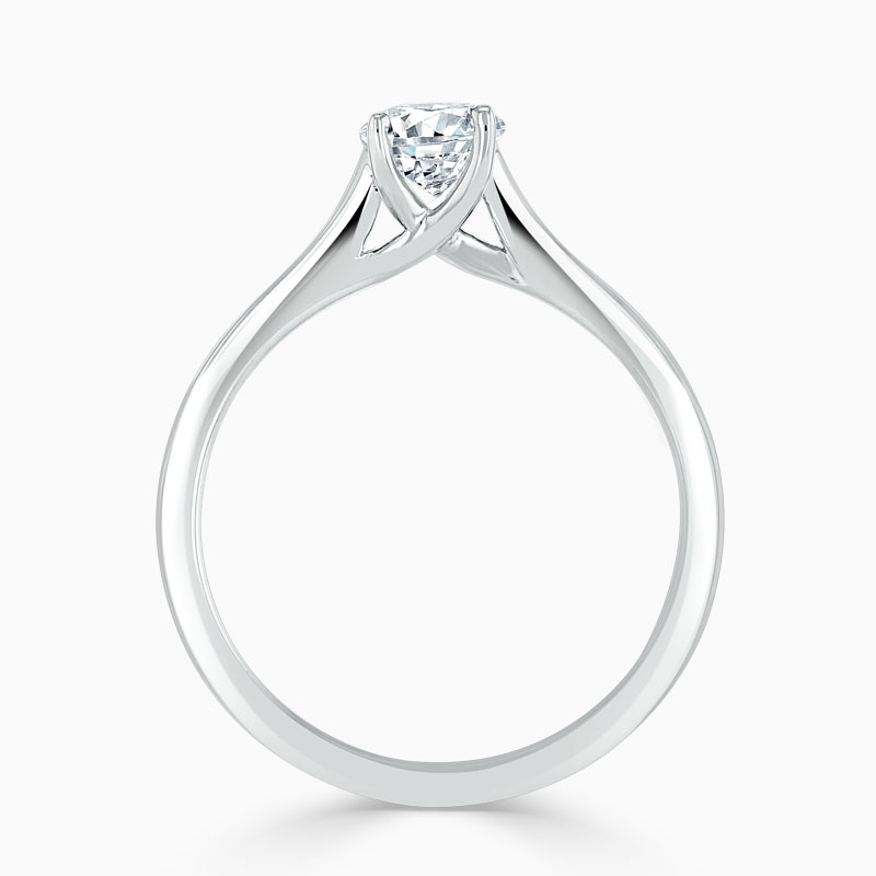 18ct White Gold Oval Shape Openset Engagement Ring