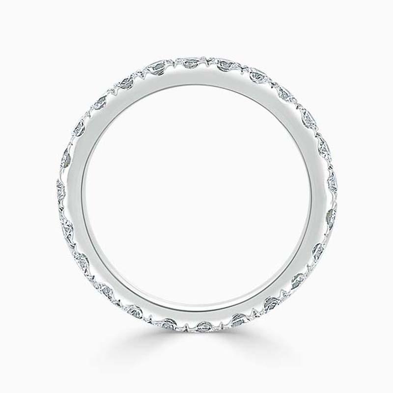 Platinum 2.75mm Round Brilliant Cutdown Set Full Eternity Ring