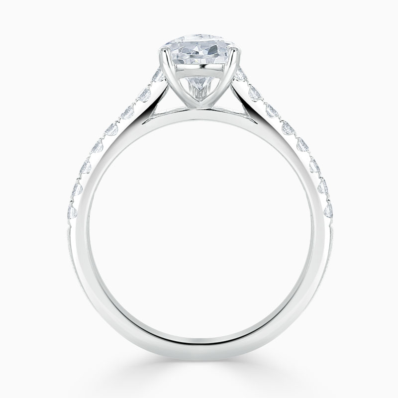 Platinum Pear Shape Classic Wedfit Cutdown Engagement Ring