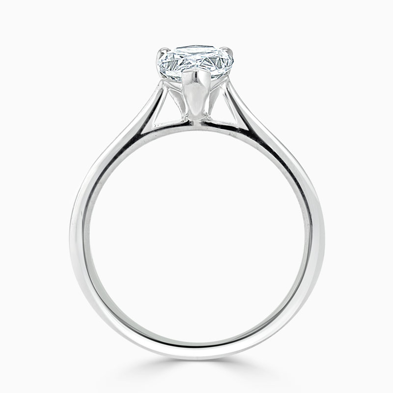 18ct White Gold Pear Shape Classic Wedfit Engagement Ring