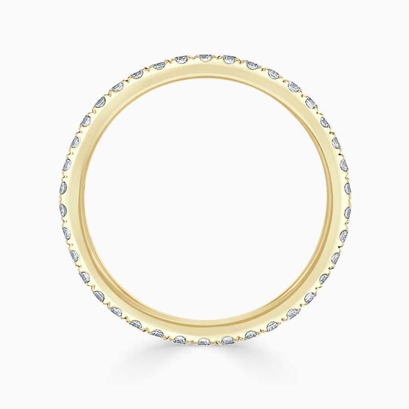 18ct Yellow Gold 1.80mm Round Brilliant Cutdown Set Full Eternity Ring