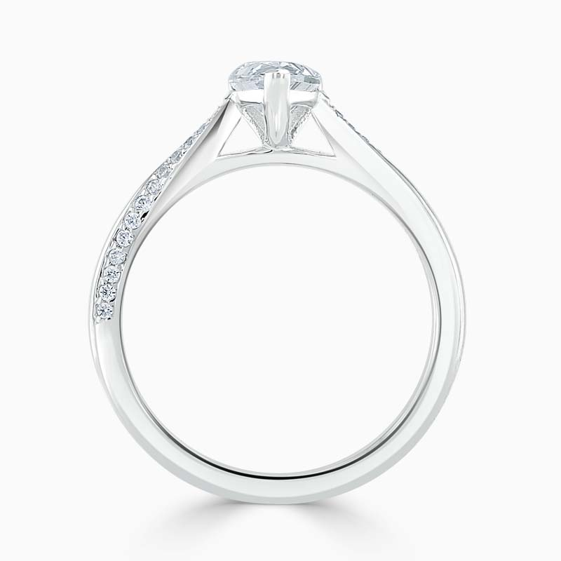 18ct White Gold Pear Shape Vortex Engagement Ring