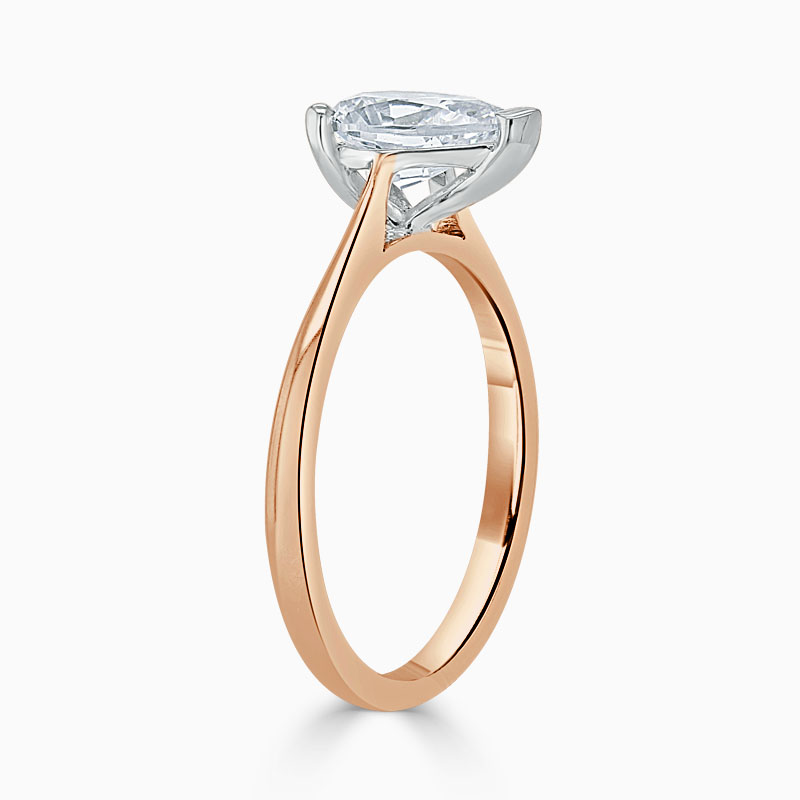 18ct Rose Gold Pear Shape Classic Wedfit Engagement Ring