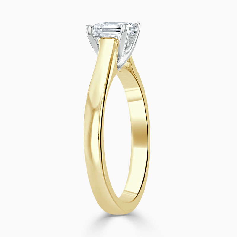 18ct Yellow Gold Princess Cut Openset Engagement Ring