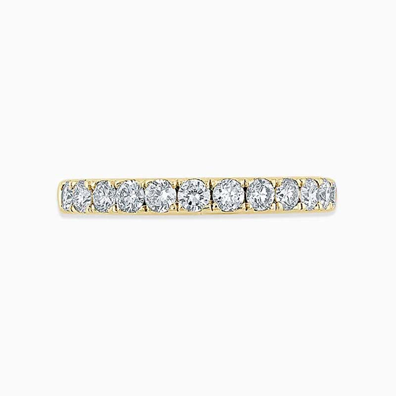 18ct Yellow Gold 2.50mm Round Brilliant Cutdown Set Full Eternity Ring