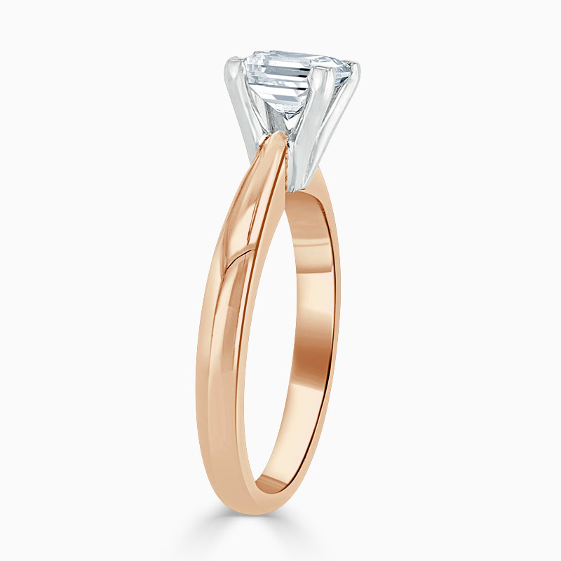 18ct Rose Gold Princess Cut High Set Engagement Ring