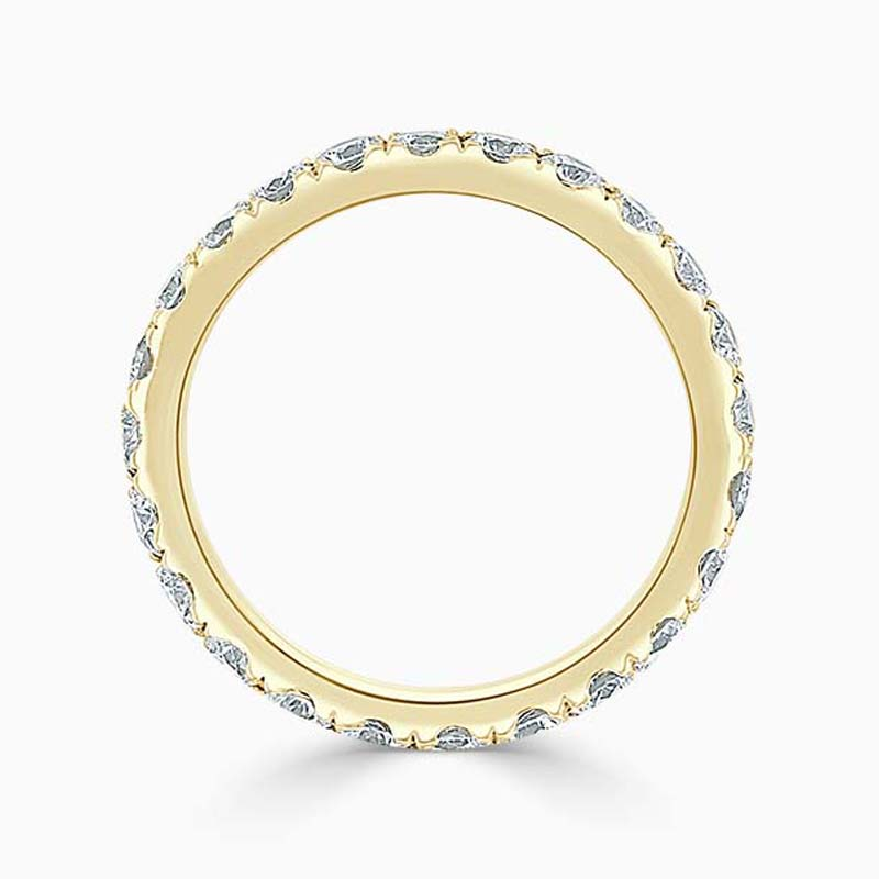 18ct Yellow Gold 2.75mm Round Brilliant Cutdown Set Full Eternity Ring