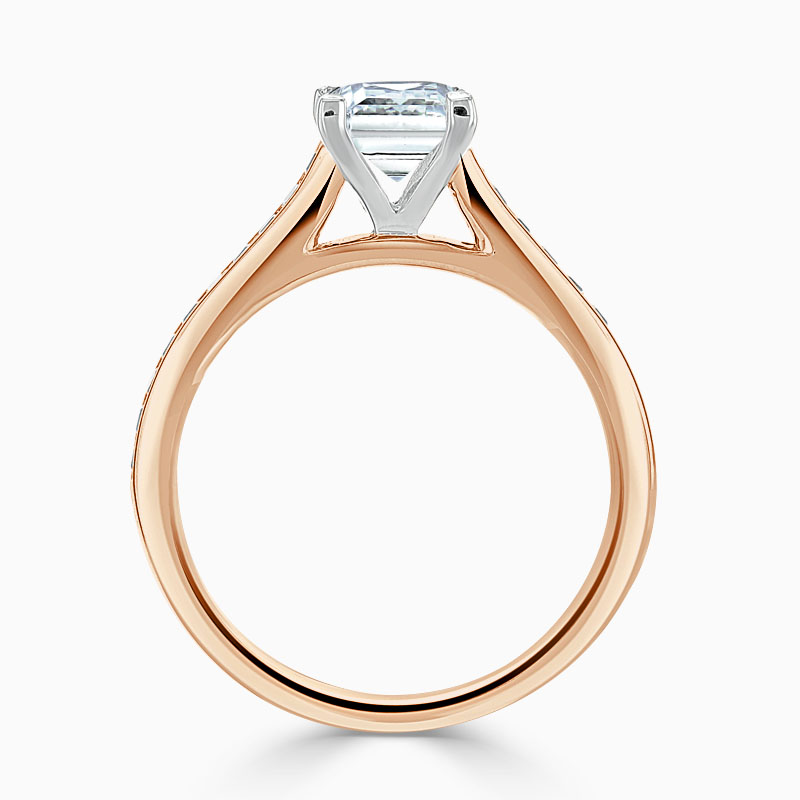 18ct Rose Gold Princess Cut Princess with Princess Shoulders Engagement Ring