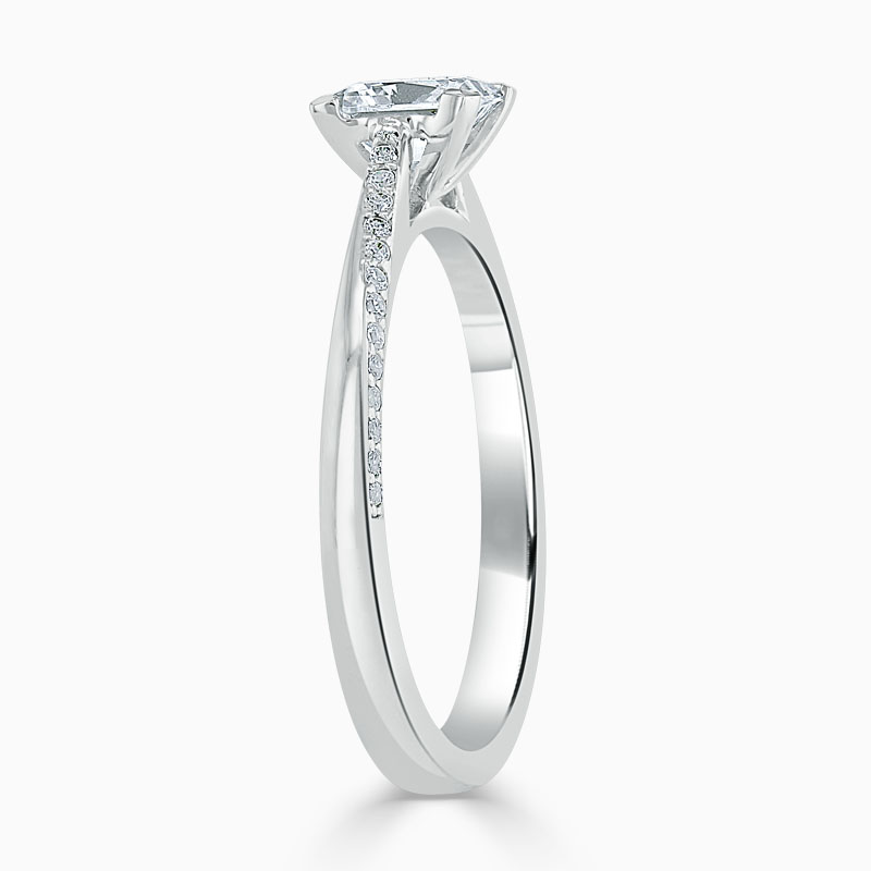 18ct White Gold Princess Cut Vortex Engagement Ring