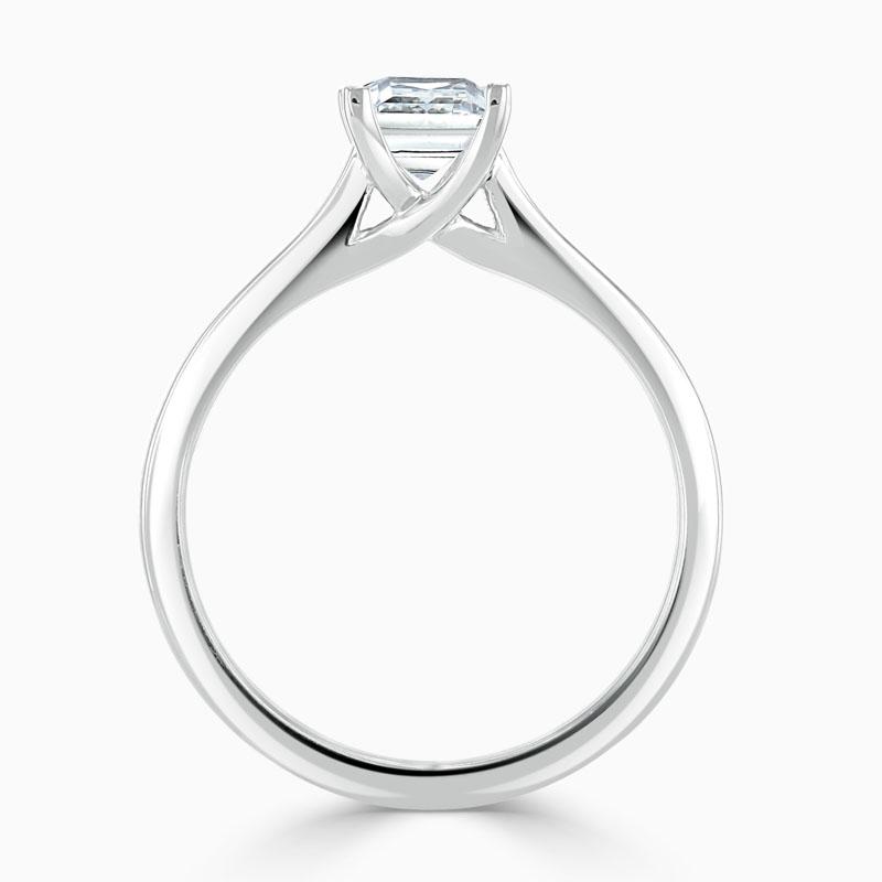 Platinum Princess Cut Openset Engagement Ring