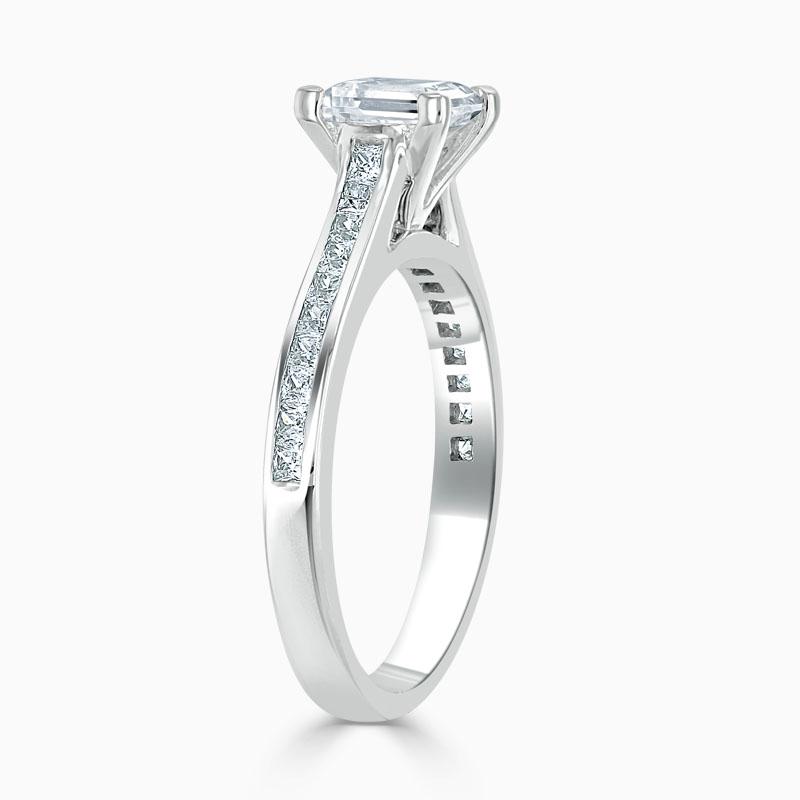 Platinum Princess Cut Princess with Princess Shoulders Engagement Ring