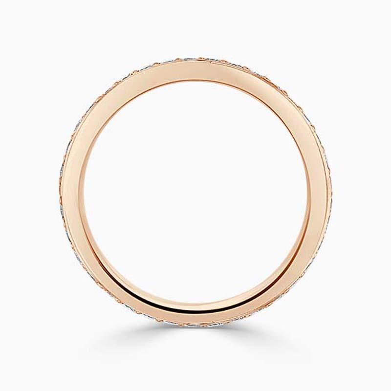 18ct Rose Gold 2.50mm Round Brilliant Pavé Set Full Eternity Ring