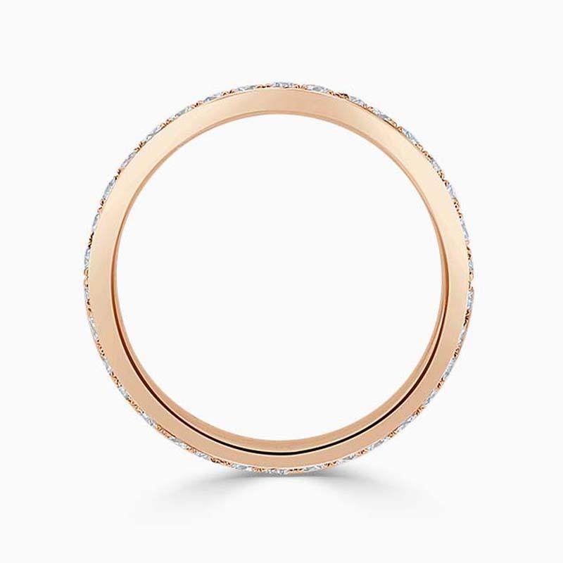 18ct Rose Gold 2.75mm Round Brilliant Pavé Set Full Eternity Ring