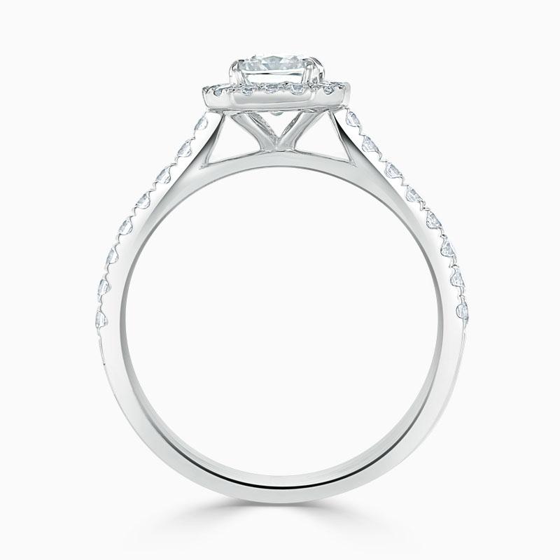 Platinum Radiant Cut Classic Wedfit Halo Engagement Ring