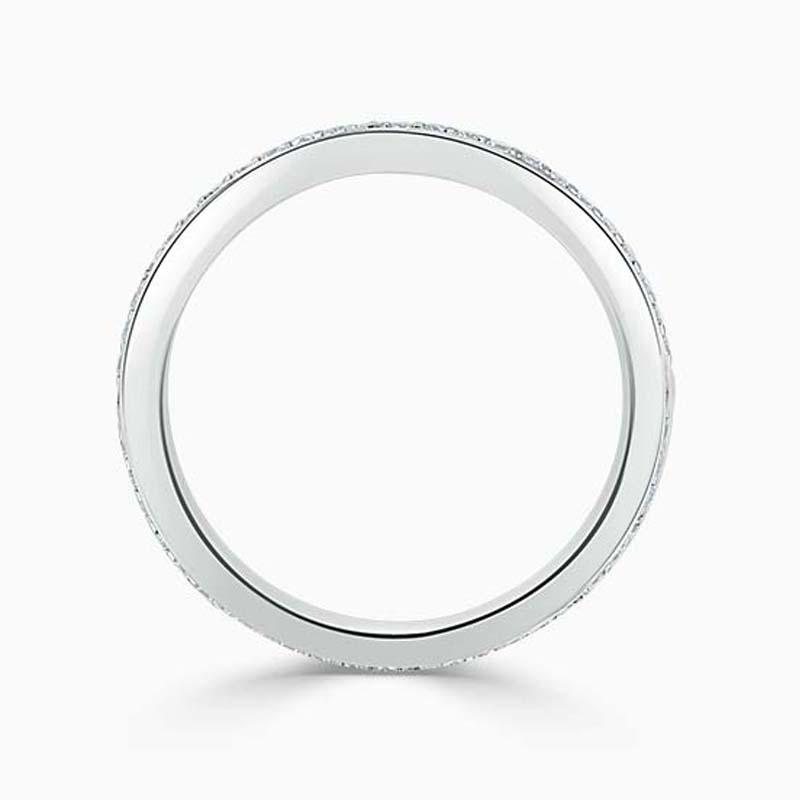 18ct White Gold 2.00mm Round Brilliant Pavé Set Full Eternity Ring