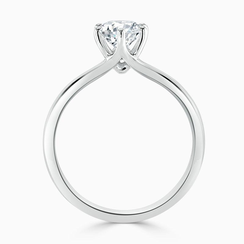 Platinum Round Brilliant Brilliant 6 Claw Engagement Ring