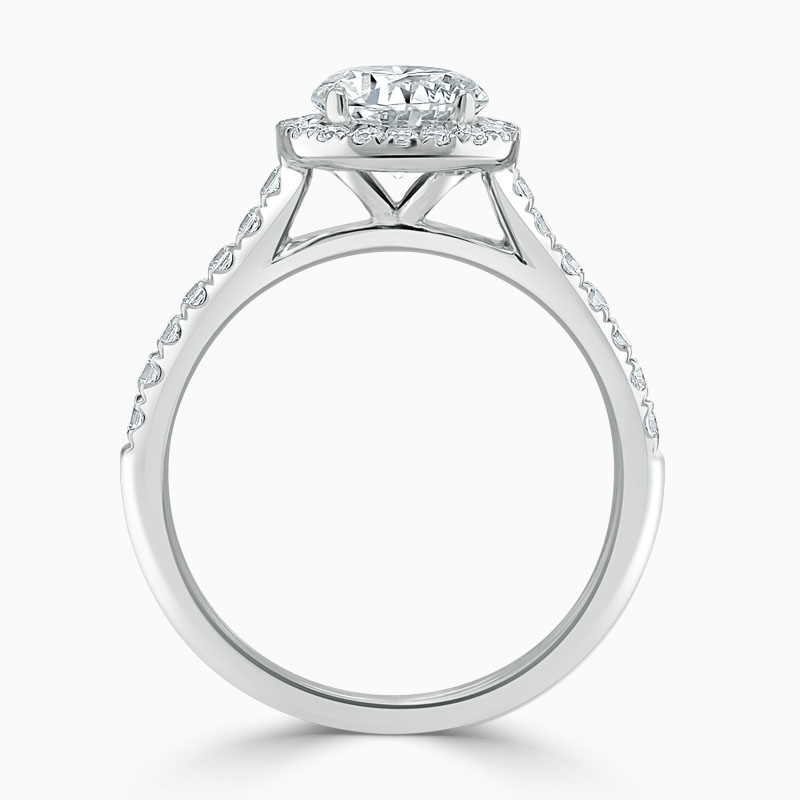 Platinum Round Brilliant Classic Wedfit Halo Engagement Ring