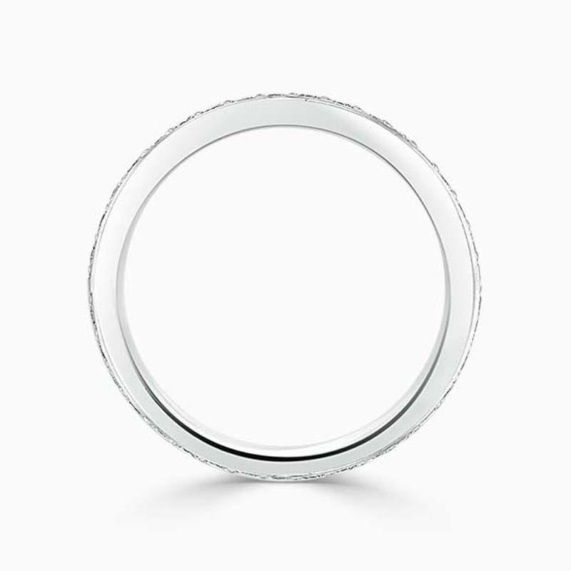 18ct White Gold 2.50mm Round Brilliant Pavé Set Full Eternity Ring