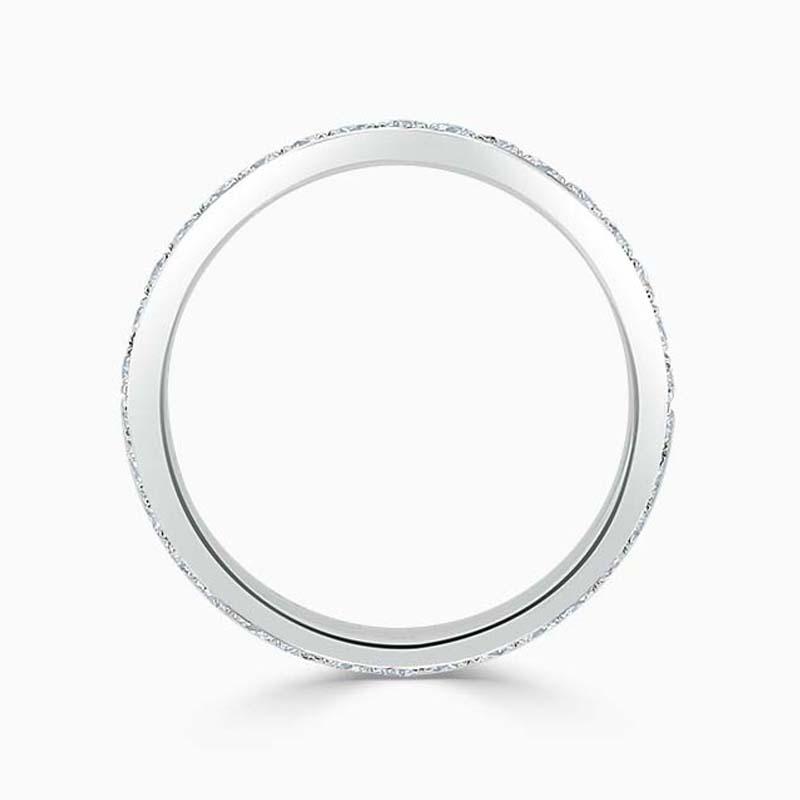 18ct White Gold 2.75mm Round Brilliant Pavé Set Full Eternity Ring