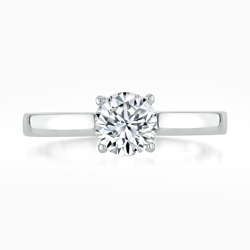 Platinum Round Brilliant Openset Engagement Ring