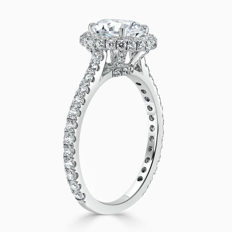 Platinum Round Brilliant Original Halo Engagement Ring