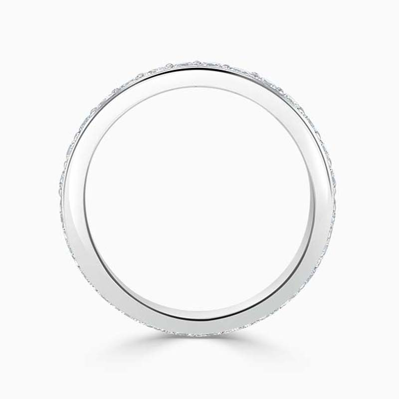 18ct White Gold 3.00mm Round Brilliant Pavé Set Full Eternity Ring