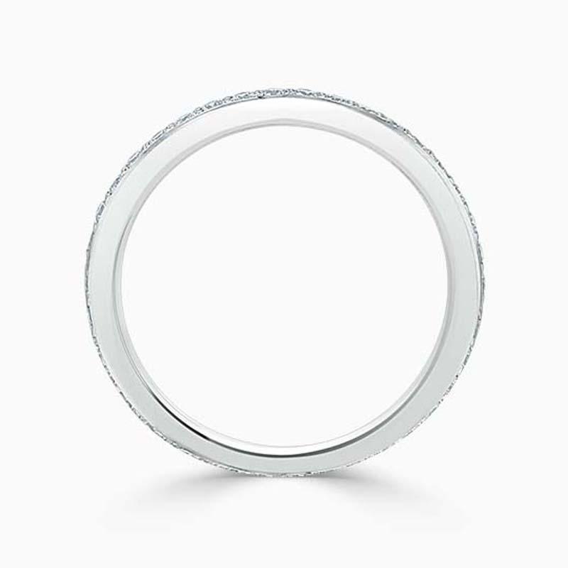 Platinum 2.25mm Round Brilliant Pavé Set Full Eternity Ring