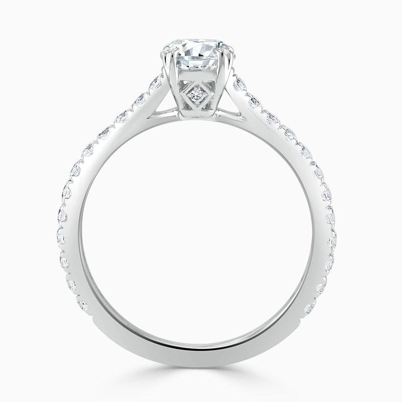 18ct White Gold Round Brilliant Basket Cutdown Engagement Ring
