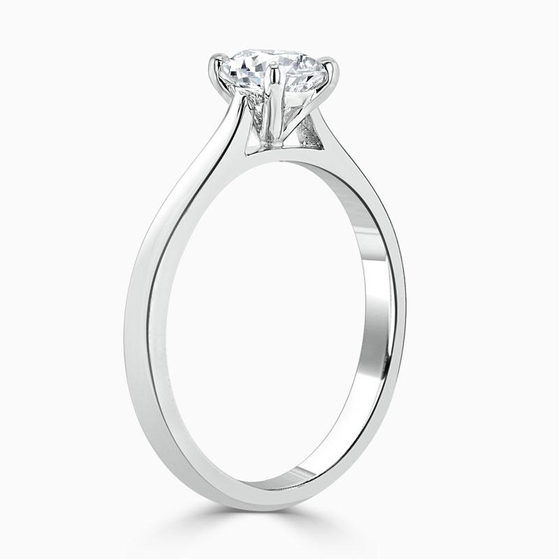 18ct White Gold Round Brilliant Classic Wedfit Engagement Ring