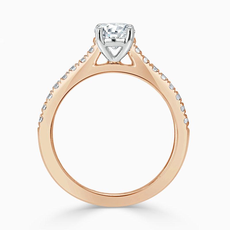 18ct Rose Gold Round Brilliant Classic Wedfit Cutdown Engagement Ring