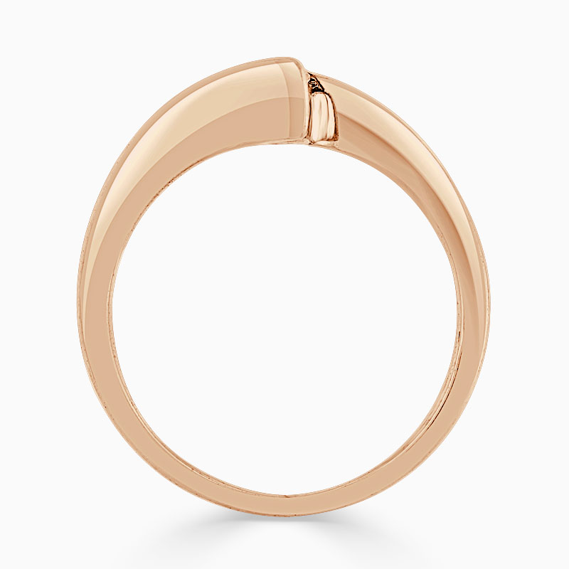 18ct Rose Gold Round Brilliant Crossover Engagement Ring
