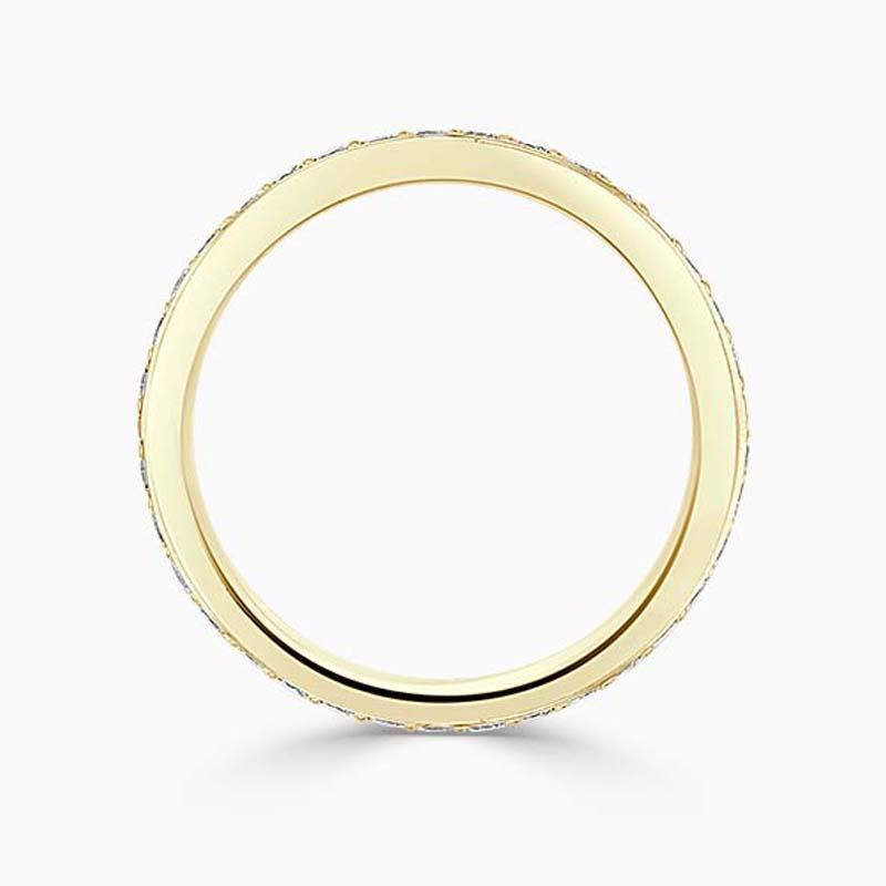 18ct Yellow Gold 2.50mm Round Brilliant Pavé Set Full Eternity Ring