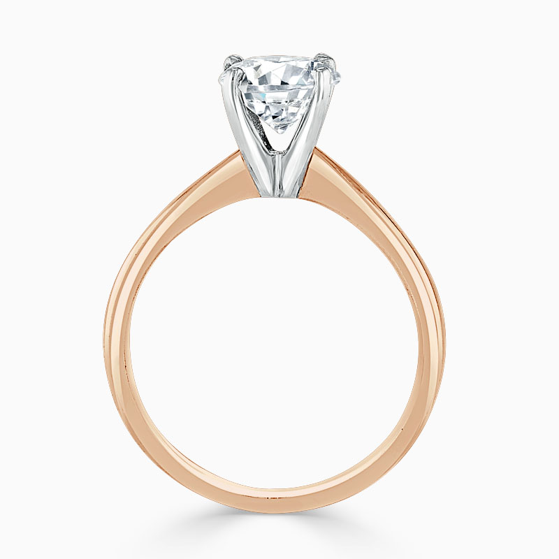 18ct Rose Gold Round Brilliant High Set Engagement Ring