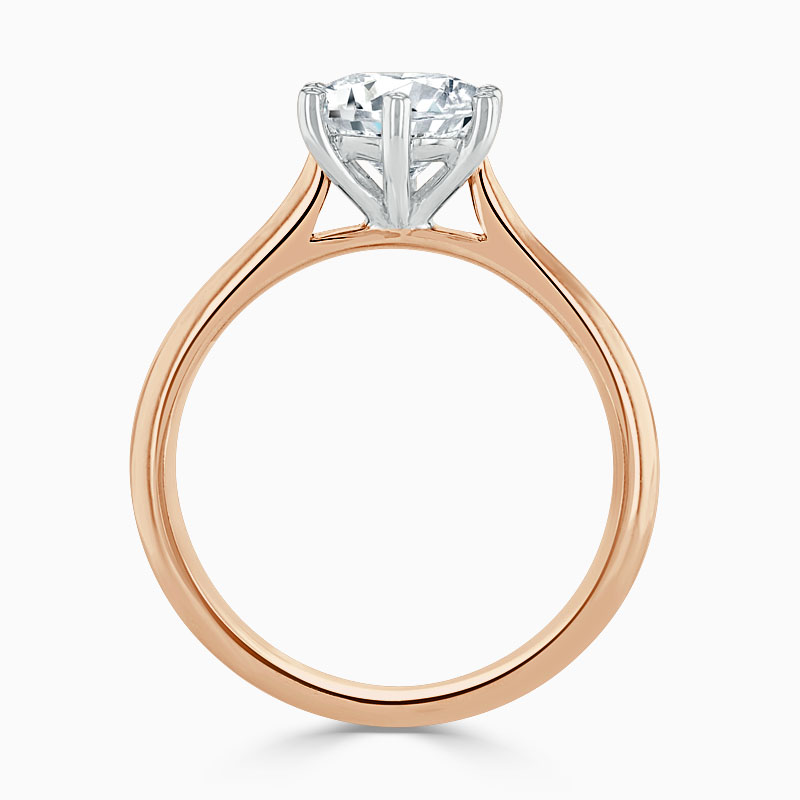 18ct Rose Gold Round Brilliant Wedfit 6 Claw Engagement Ring