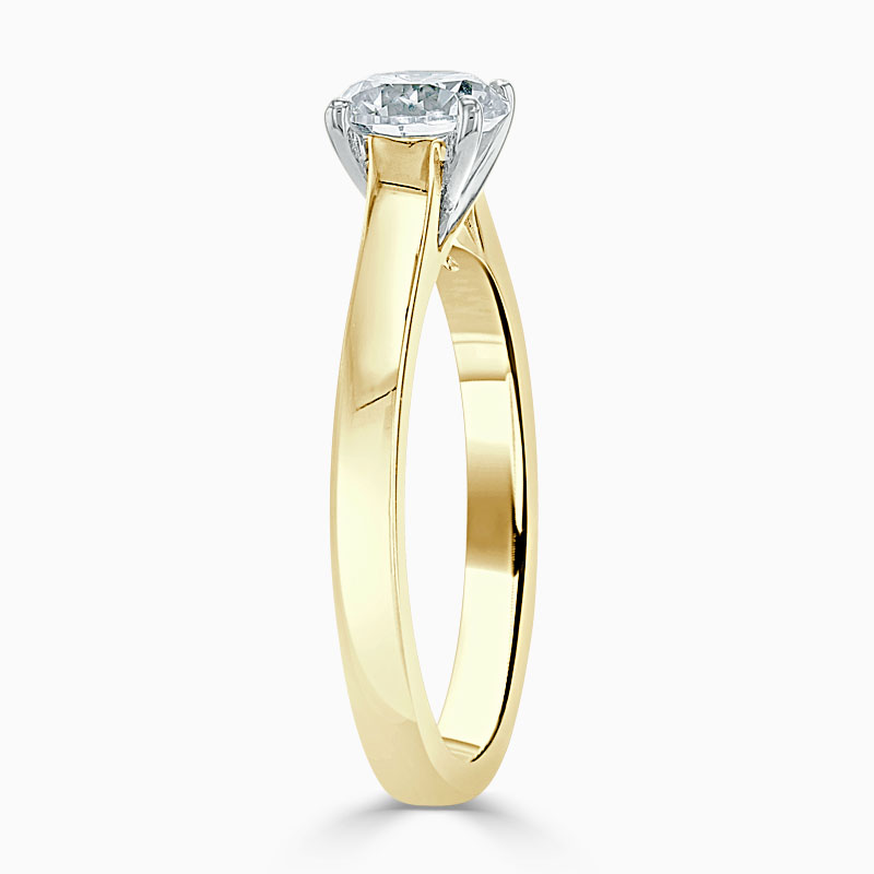 18ct Yellow Gold Round Brilliant Openset Engagement Ring