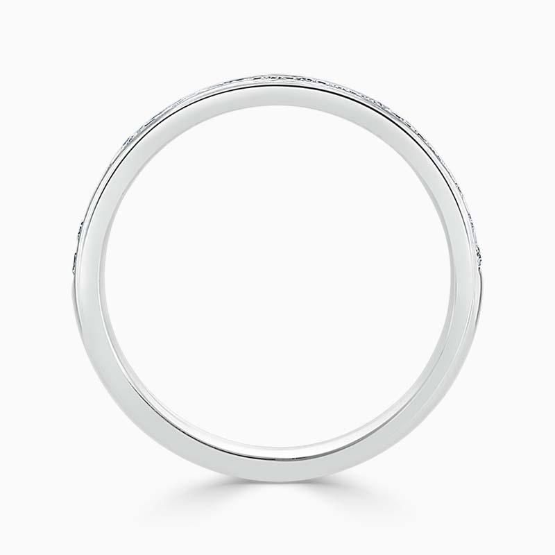 18ct White Gold 2.25mm Round Brilliant Channel Set Half Eternity Ring