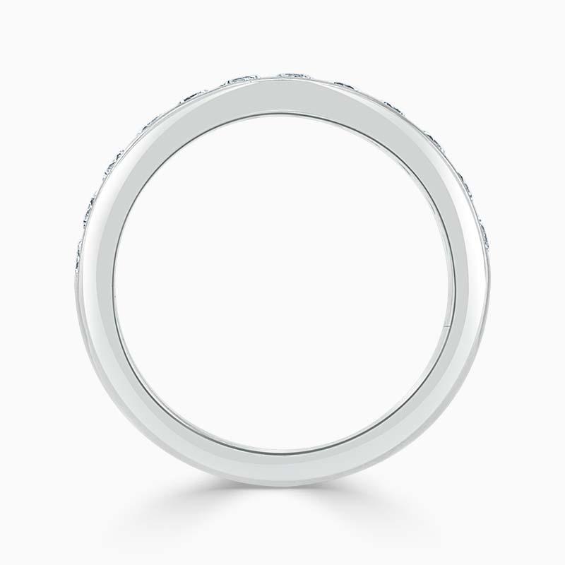 18ct White Gold 3.50mm Round Brilliant Channel Set Half Eternity Ring