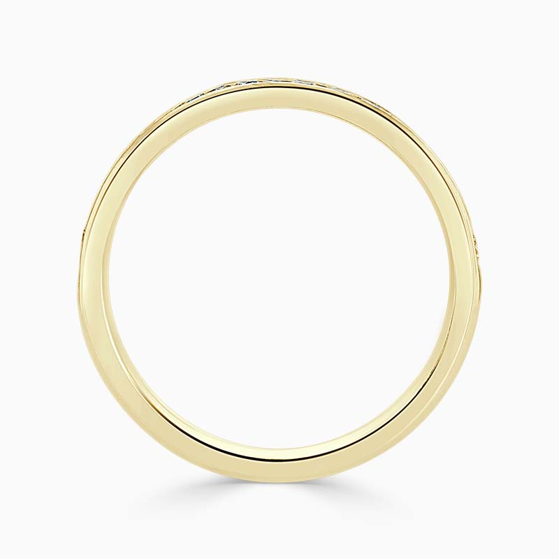 18ct Yellow Gold 2.50mm Round Brilliant Channel Set Half Eternity Ring