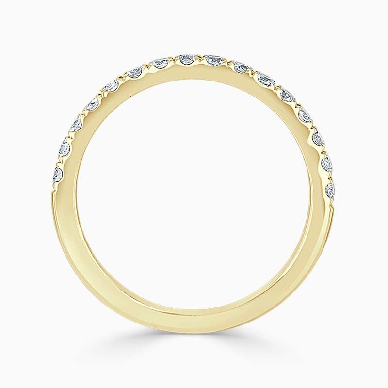18ct Yellow Gold 2.00mm Round Brilliant Cutdown Set Half Eternity Ring