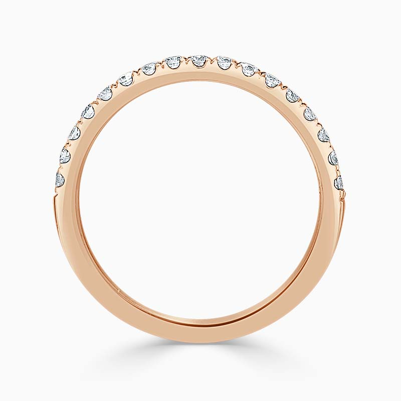 18ct Rose Gold 1.80mm Round Brilliant Cutdown Set Half Eternity Ring