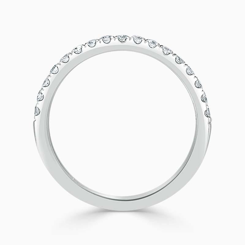 18ct White Gold 1.80mm Round Brilliant Cutdown Set Half Eternity Ring - Size M