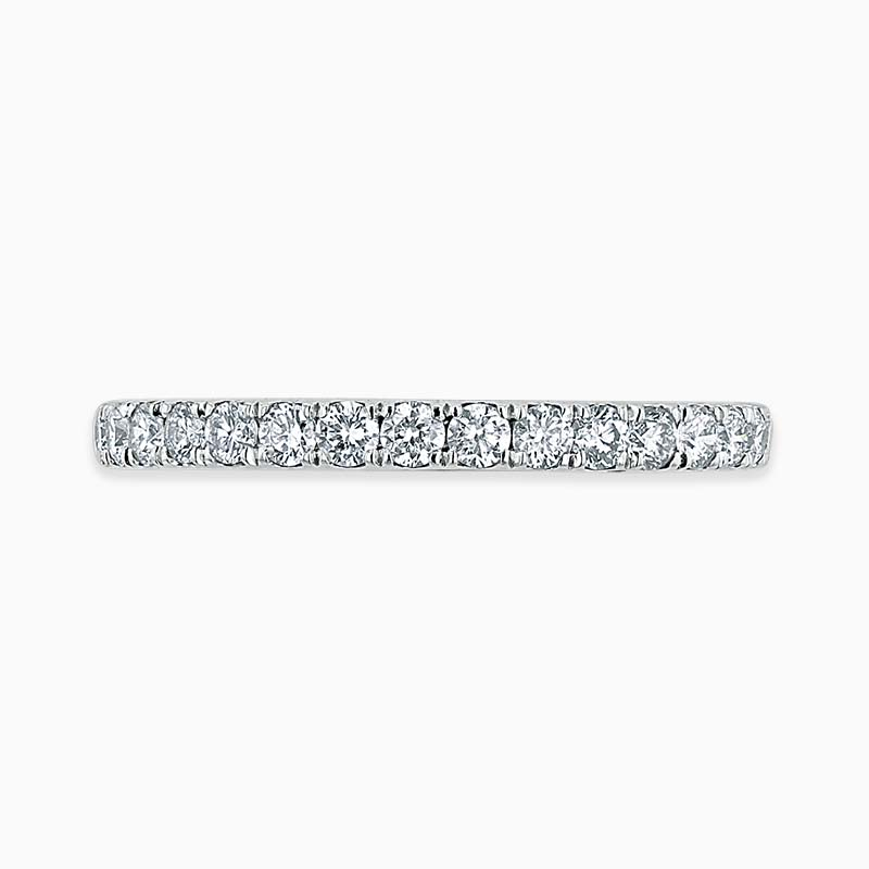 18ct White Gold 2.00mm Round Brilliant Cutdown Set Half Eternity Ring