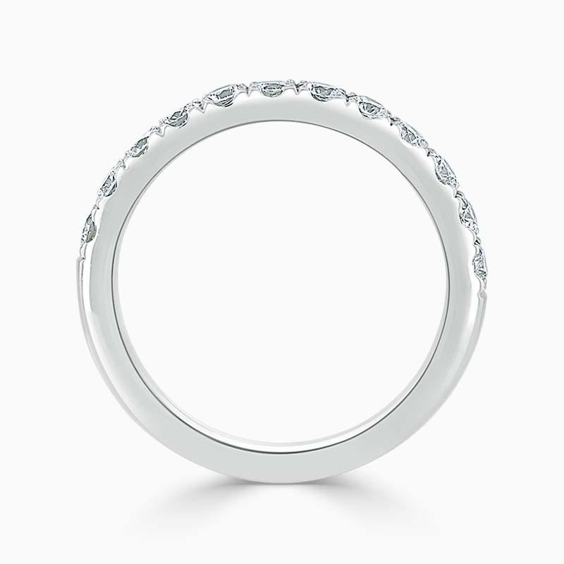 18ct White Gold 2.75mm Round Brilliant Cutdown Set Half Eternity Ring