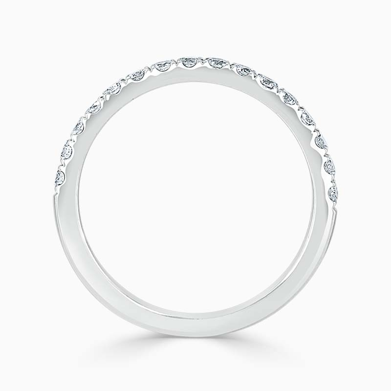 Platinum 2.00mm Round Brilliant Cutdown Set Half Eternity Ring