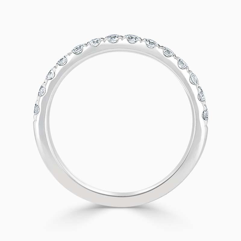 Platinum 2.25mm Round Brilliant Cutdown Set Half Eternity Ring