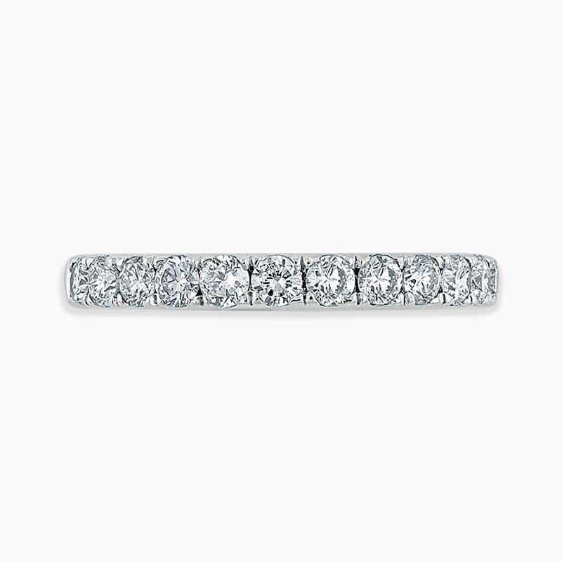 Platinum 2.75mm Round Brilliant Cutdown Set Half Eternity Ring
