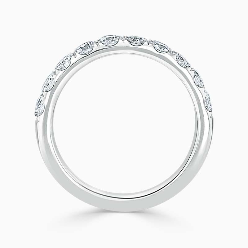 Platinum 3.00mm Round Brilliant Cutdown Set Half Eternity Ring